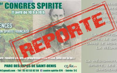 Congrès Spirite – 11 avril 2020 [REPORTE]
